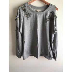 Anthropologie (Deletta) Embellished Sweatshirt